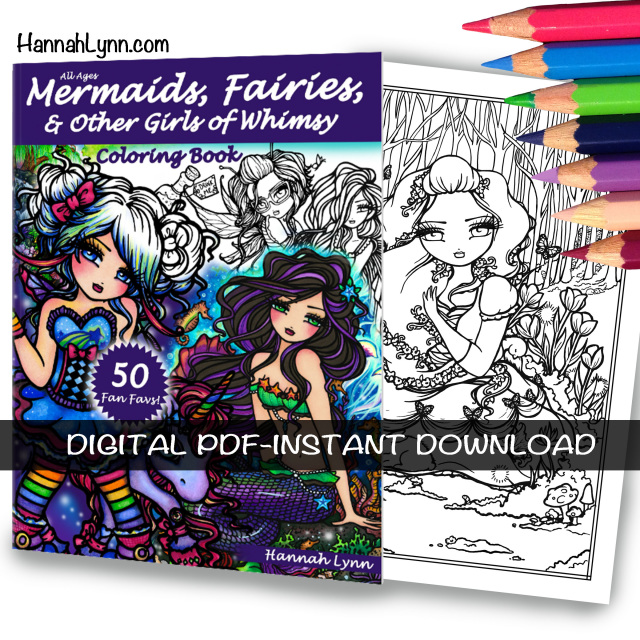 Pdf Mermaids Fairies Other Girls Of Whimsy Coloring Book
