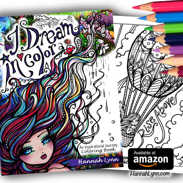 I Dream In Color An Inspirational Journey Coloring Book AUTOGRAPHED Paperback