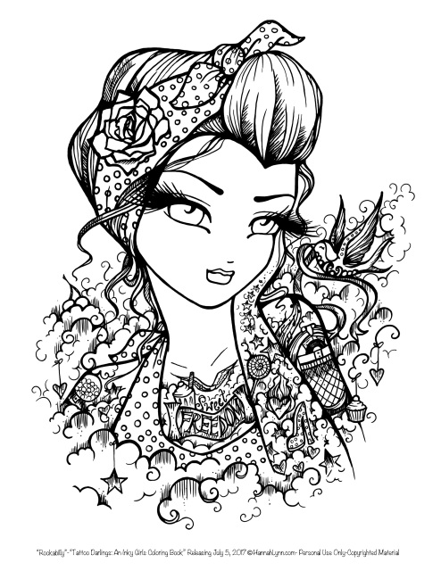Tattoo Darlings: An Inky Girls Coloring Book -AUTOGRAPHED ...