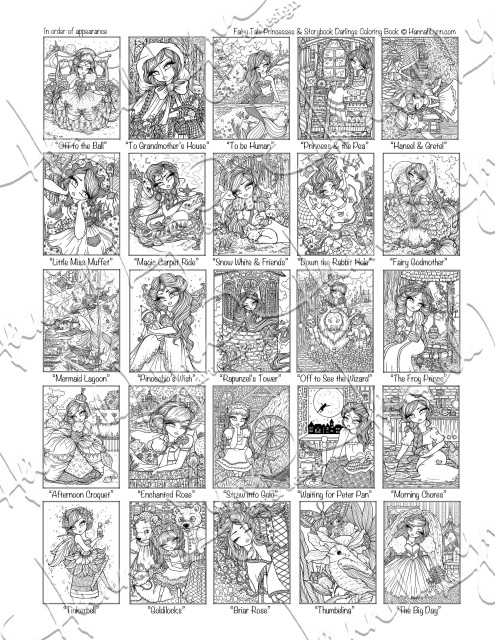 Coloring pages for adults: Fairy tales, printable, free to download | 640x495