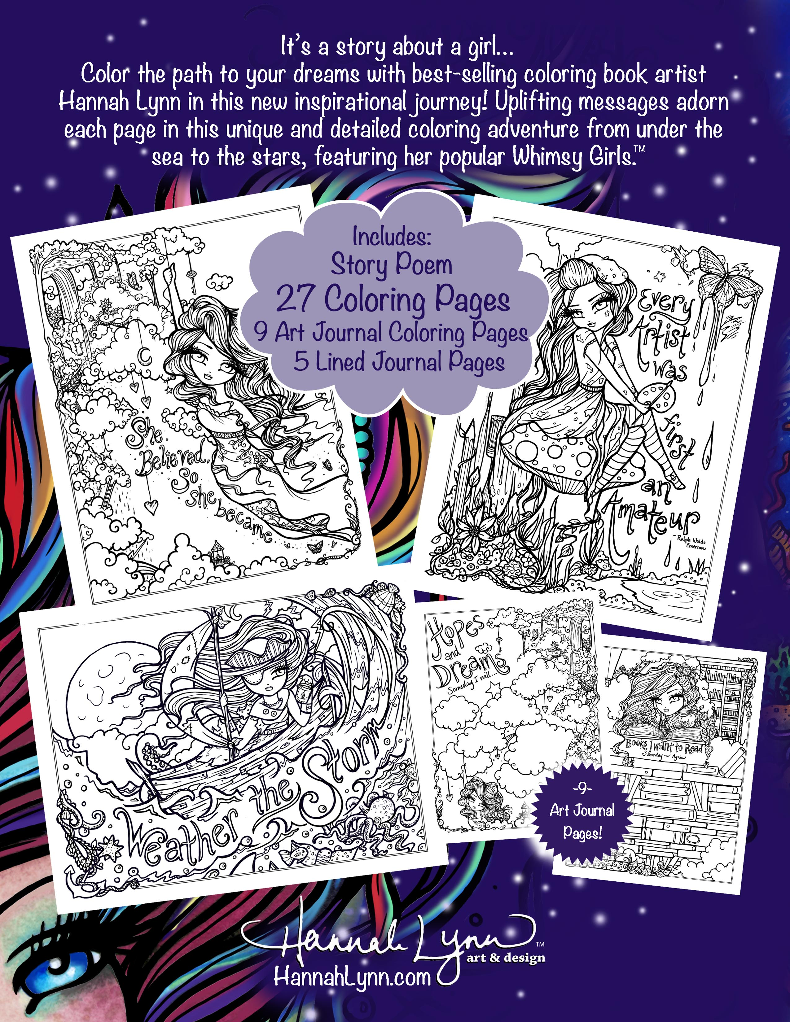 PDF I Dream In Color Inspirational Journey Coloring Book Instant Download
